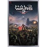 "Trends International Halo Wars 2-Key Art Wall Poster, 14.725"" x 22.375"", Silver Framed Version"