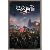 "Trends International Halo Wars 2-Key Art Wall Poster, 22.375"" x 34"", Barnwood Framed Version"