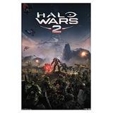 "Trends International Halo Wars 2-Key Art Wall Poster, 14.725"" x 22.375"", White Framed Version"