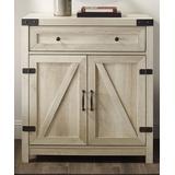 Walker Edison Cabinets White - White Oak Farmhouse Barn Cabinet