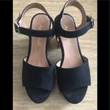 American Eagle Outfitters Shoes | American Eagle Cork Platform Sandal | Color: Black | Size: 8