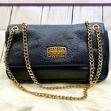 Michael Kors Bags   M I C H A E L K O R S : Pebble Leather Evening Bag   Color: Black/Gold   Size: Os