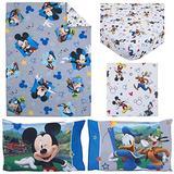 Disney Mickey Mouse Having Fun 4 Piece Toddler Bedding Set