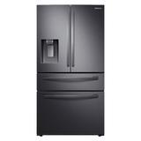 "Samsung 36"" French Door 22.4 cu. ft. Smart Energy Star Refrigerator in Black, Size 70.0 H x 35.75 W x 31.0 D in | Wayfair RF22R7351SG"