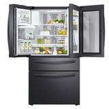 "Samsung 36"" 4-Door French Door FlexZone 27.8 cu. ft. Smart Energy Star Refrigerator w/ Food Showcase in Black, Size 70.0 H x 35.75 W x 36.5 D in"