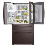 "Samsung 36"" 4-Door French Door FlexZone 27.8 cu. ft. Smart Energy Star Refrigerator w/ Food Showcase in Gray, Size 70.0 H x 35.75 W x 36.5 D in"