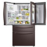 "Samsung 36"" French Door 22.4 cu. ft. Smart Energy Star Refrigerator in Gray, Size 70.0 H x 35.75 W x 31.0 D in | Wayfair RF22R7351DT"