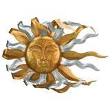 "Regal Art & Gift 12671 - Galvanized Windswept Sun 34"" Wall Decor Figurines"