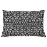 East Urban Home Victorian Indoor/Outdoor Damask Lumbar Pillow Cover Polyester/Polyester blend in Black, Size 16.0 H x 26.0 W x 0.1 D in   Wayfair