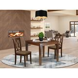 Winston Porter Humbermede 3 Piece Solid Wood Dining Set Wood/Upholstered Chairs in Brown, Size 30.0 H in   Wayfair 10CA4E5B8D344D96B9835DD49D82DD0B