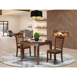 Winston Porter Keren 3 Piece Solid Wood Dining Set Wood/Upholstered Chairs in Brown, Size 30.0 H in   Wayfair F6D6F83DA13E4B969CE3ED9B16819ABB