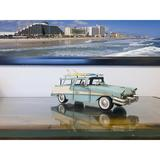 Winston Porter Hitterdal 1957 Ford Country Squire Station Wagon Metal in Blue/White, Size 5.0 H x 12.0 W x 5.0 D in   Wayfair