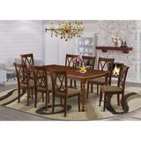 Winston Porter Boxvale 9 Piece Extendable Solid Wood Dining Set Wood in Brown, Size 30.0 H in | Wayfair 159D72D526DB44C8B9B667B553748C6A