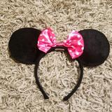 Disney Accessories   Minnie Mouse Ears   Color: Black/Pink   Size: Os