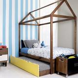 Nico and Yeye Domo Zen Canopy Bed w/ Trundle Wood in Yellow, Size 41.5 W x 76.5 D in | Wayfair ZT04-W5