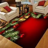 Christmas Area Rugs 5x7, Area Rugs for Living Room Bedroom, Large Area Rugs Christmas Branches and Bells