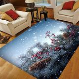Christmas Area Rugs 5x7, Area Rugs for Living Room Bedroom, Large Area Rugs Christmas Tree Background
