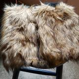 Jessica Simpson Other   Fake Fur Leg Warmers   Color: Black/Tan   Size: Os