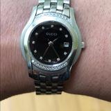 Gucci Jewelry | Diamond Bezel Gucci Womens Watch | Color: Silver | Size: Os