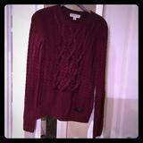 Burberry Sweaters   Burberry London Cable Sweater   Color: Purple   Size: S