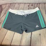 Adidas Swim | Adidas Gray And Teal Board Shorts Size 89 | Color: Gray | Size: M