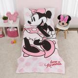 Disney Minnie Mouse 4 Piece Toddler Bedding Set Polyester in Pink | Wayfair 6022416