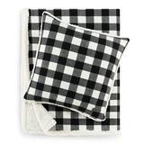 Eddie Bauer Cabin Plaid 100% Cotton Throw in Black, Size 50.0 W in | Wayfair 226587