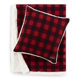 Eddie Bauer Cabin Plaid 100% Cotton Throw in Red, Size 50.0 W in | Wayfair 226588