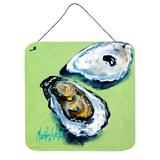 Highland Dunes Two Shells Oyster Wall Decor Metal in Green, Size 6.0 H x 6.0 W x 0.03 D in | Wayfair D48576096EDD43269B7DEBFDAEA812D8