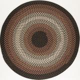 World Menagerie Busick Handmade BraidedIndoor/Outdoor Area RugPolypropylene in Black, Size 48.0 H x 48.0 W x 0.5 D in   Wayfair
