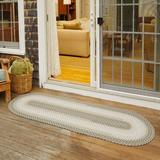 World Menagerie Lincya Handmade Braided Frosty Indoor/Outdoor Area RugPolypropylene in White, Size 96.0 H x 24.0 W x 0.5 D in   Wayfair