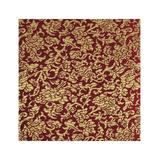 Wrapables Art Paper - Gold & Burgundy Wild Flower Satin Brocade Decorative Paper
