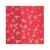 Wrapables Art Paper - Magenta Butterfly Satin Brocade Decorative Paper