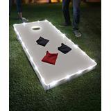Brightz String Lights White - White LED Cornhole Board String Lights Kit