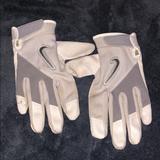 Nike Accessories | Boys Size Ml White Nike Batting Gloves | Color: White | Size: Ml