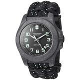 Victorinox Men's I.N.O.X Carbon Swiss Quartz Sport Watch with Nylon Strap, Black, 26 (Model: 241859)