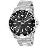 Invicta Pro Diver Men 46mm Stainless Steel Stainless Steel Charcoal dial Quartz, 30744