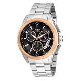 Invicta Specialty Men 45mm Stainless Steel Stainless Steel Black dial Quartz, 30815