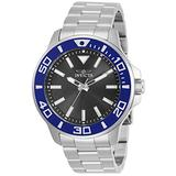 Invicta Pro Diver Men 46mm Stainless Steel Stainless Steel Charcoal dial Quartz, 30745