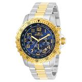 Invicta Specialty Men 45.5mm Stainless Steel Stainless Steel Blue dial Quartz, 30793