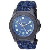 Victorinox Men's I.N.O.X Carbon Swiss Quartz Sport Watch with Nylon Strap, Gray, 24.7 (Model: 241861)