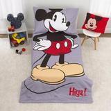 Disney Mickey Mouse 4 Piece Toddler Bedding SetPolyester in Gray | Wayfair 6023416