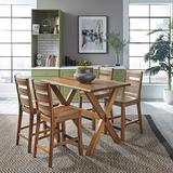 Forest Retreat High Dining Table & 4 Stools by Home Styles