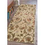 Fairfield Beige 3x10 Runner Area Rug for Hallway, Walkway, Entryway, or Foyer - Transitional, Floral