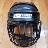 Nike Other | Nike Bauer Nbh1550s Hockey Helmet Size M | Color: Black/White | Size: Osb