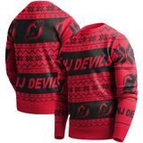 """""""Men's Red New Jersey Devils Ugly Pullover Sweater"""""""