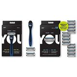 Made For YOU by BIC Shaving Razor Blades for Every Body for a Smooth Close Shave & Hair Removal, NAVY Kit & 12 Count Refill Razor Blades for Every Body for a Close Shave with Aloe Vera and Vitamin E