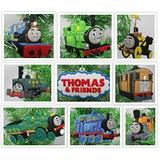 Thomas The Train Deluxe Christmas Ornament Set Featuring Thomas The Engine Friends - Unique Shatteproof Plastic Design