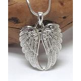 Angel Wings Necklace White Gold Plated Designer Style Angel Wings Necklace Fashion Jewelry for Women Man