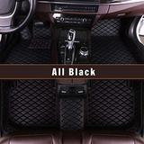 Custom Fitted for Ford Focus 2012-2018 Car Floor Mats Full Covered Leather Front and Rear All Weather Floor Mat black
